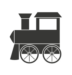 Baby toy train isolated icon design vector image