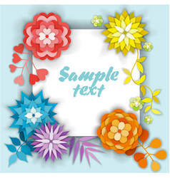 Beautiful floral card with place for text vector