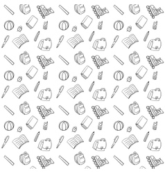 Black and White Textile School Pattern vector