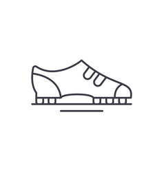 boots line icon concept boots linear vector image