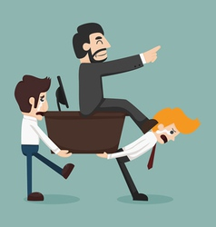 Businessman carrying boss vector image