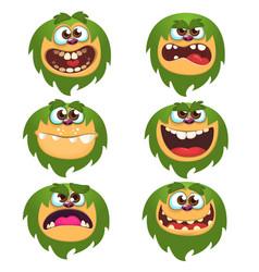 cartoon monsters set for halloween vector image