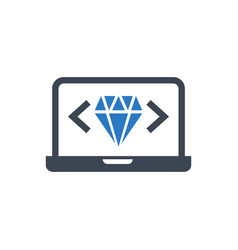 clean code glyph icon vector image