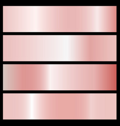 collection of pink gradients vector image