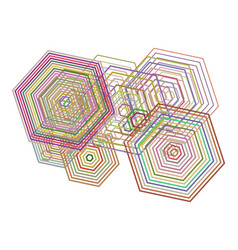 Color abstract geometric pattern generative art vector