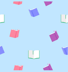 colorful books seamless pattern vector image