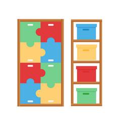 comfortable cupboard cabinet baby room decor vector image