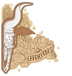 Engraving capricornus vector image