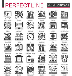 entertainment classic black mini concept symbols vector image