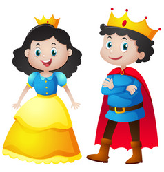 Fairytale characters of king and queen vector