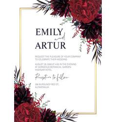 floral wedding invite invitation greeting card vector image