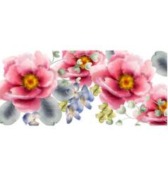 flowers watercolor beautiful exotic vector image