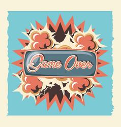 Game over label retro vector