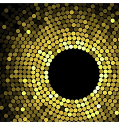 Geometric pattern of gold circles or dots vector image