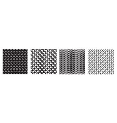 Geometry white black simple seamless pattern arc vector