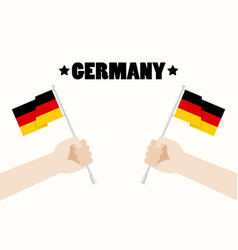 Germany national day with hands holding up vector