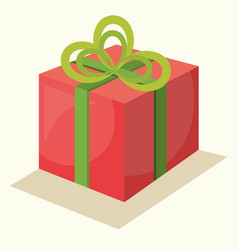 Gift present christmas icon vector
