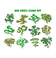 green fumes bad smell clouds vector image