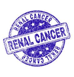 Grunge textured renal cancer stamp seal vector