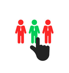 hand select employee like recruitment vector image