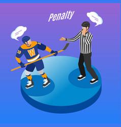 Hockey isometric background vector
