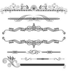 horizontal ornamental vector image