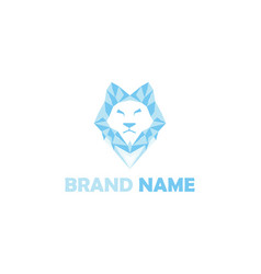 ice lion logo vector image
