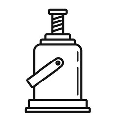 industry jack-screw icon outline style vector image