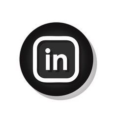 linkedin sign vector image