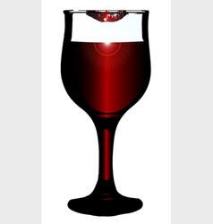 lipstick on wine glass vector image