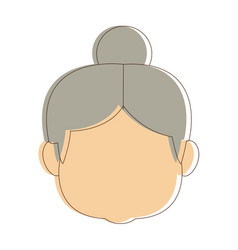 Lovely grandmother old woman image cheerful vector