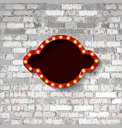 marquee light board sign vector image