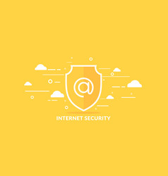 modern in flat style data security on vector image