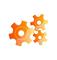 orange gears vector image vector image
