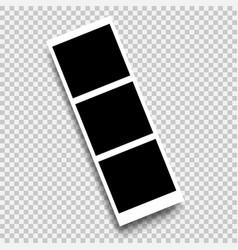 photo frame template design white border vector image