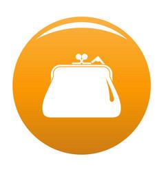 purse retro icon orange vector image