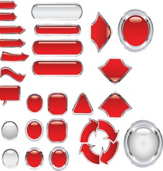 Red metal glass set resize vector