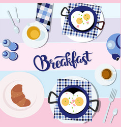 romantic breakfast on the vector image