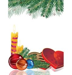 Romantic christmas background vector