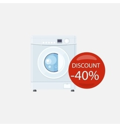 Sale of Household Appliances Washing Machine vector
