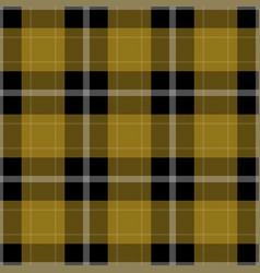 Seamless black yellow tartan with white stripes vector