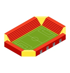 SOCCER STADIUM ISOMETRIC FLAT DESIGN vector