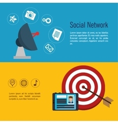 social media network globe isolated vector image