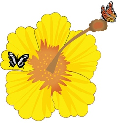 sunny flower vector image
