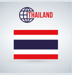 thailand flag isolated on modern background with vector image