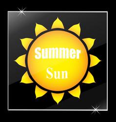 the sun under glass stylish vector image