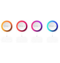 timeline infographic design vector image