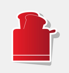 toaster simple sign new year reddish icon vector image