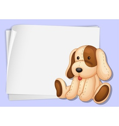Toy Dog Paper vector image