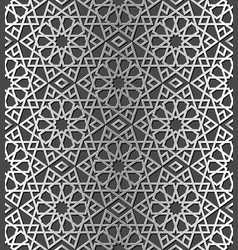 traditional arabic silver color seamless pattern vector image